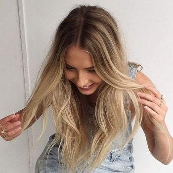 Donkere highlights in blond haar