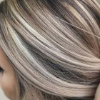 Highlights en lowlights blond haar