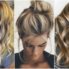 Kapsels highlights lang haar