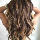 Blonde highlights in zwart haar