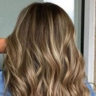 Blonde highlights in donkerblond haar